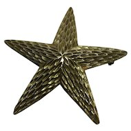 BSK Starfish Pin Gold Tone Ocean Beach