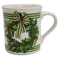 Hallmark Christmas Wreath Mug Made in Japan
