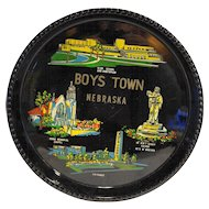 Boys Town Nebraska Lacquerware Souvenir Tray Made in Japan