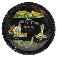 Boys Town Nebraska Lacquerware Souvenir Tray Made in Japan