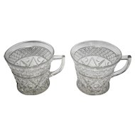 Cape Cod Imperial Glass Punch Cups Pair 1602 160 Stem Clear Glass