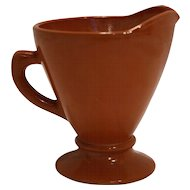 Hazel Atlas Ovide Rust Orange Creamer