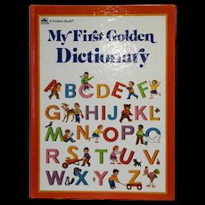 My First Golden Dictionary 1988 Hardback Tina Thoburn Jean Chandler