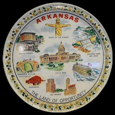 Arkansas The Land of Opportunity Souvenir Metal Tray