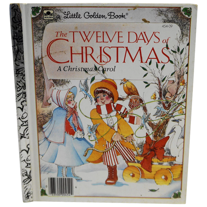 Twelve Days Of Christmas Book.The Twelve Days Of Christmas Little Golden Book 1983