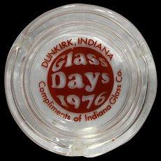 Indiana Glass Days 1976 Ashtray Promotional Item