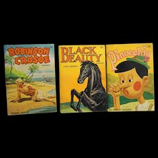 Famous Classics Story Books Black Beauty Robinson Crusoe Pinocchio