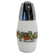 Gemco Spice of Life Sugar Shaker Milk Glass
