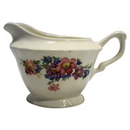 Crown Potteries USA Floral Transfer Creamer Cream Pitcher 1940s