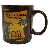 Myers's Rum Original Dark Brown Coffee Mug Promotional Advertising