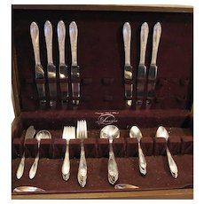 King Edward National Silver Co 48 Pieces Silverplate Flatware Set
