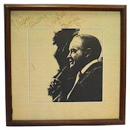 Bob Hope And His Friends Kings of Comedy Boxed 3 LP Vinyl Record Set Framed Signed 1979