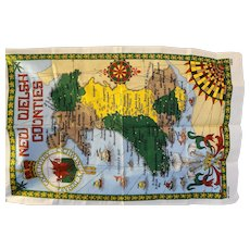 New Welsh Counties Map Tea Towel Dish Cloth Vista All Cotton