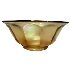 Imperial Wide Panel Marigold Carnival Glass Flared Bowl 8 IN