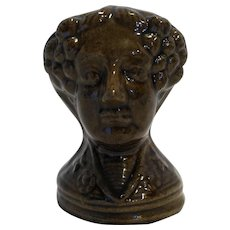 Rockingham Glaze Woman Head Furniture Support English Earthenware