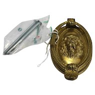 Brass Lion Head Door Knocker Oval