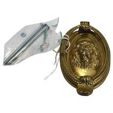 Brass Lion Head Door Knocker Oval