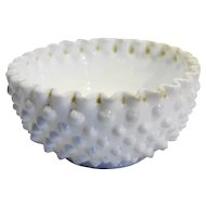 Fenton Hobnail White Milk Glass Cereal Bowl 5 IN 3719