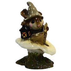 Wee Forest Folk M-163 Elf Tales Taupe 1989-1995 Annette Petersen