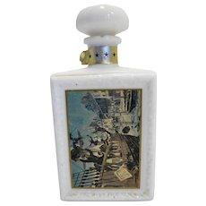 JW Dant's Boston Tea Party American Collection Decanter White Milk Glass