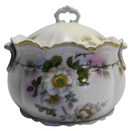 Lehmann Son Leuchtenburg Germany Porcelain Biscuit Cookie Jar Tea Caddy Huge Sugar Bowl