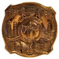 Ges Gesch Copper Plaque Germany Souvenir Bayern Munsch
