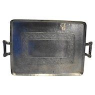 Everlast Hand Forged Aluminum Rectangle Serving Tray MidCentury Grape Motif