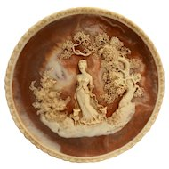 Incolay Stone She Walks in Beauty Romantic Poets Plate No Box