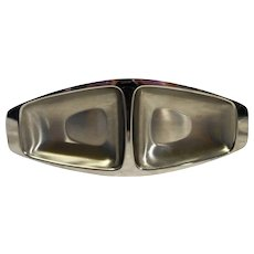 Alessi Stainless Steel Divided Bowl Midcentury Modern