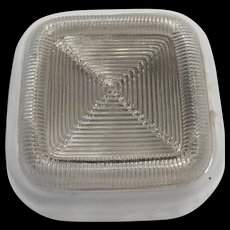 Square Ribbed Clear Frosted Light Shade Globe Ceiling