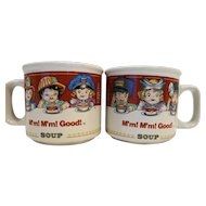 Campbell's Kids M'm M'm! Good Soup Mugs Pair Occupational