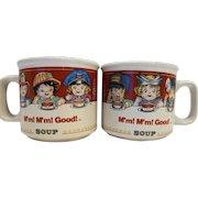 Campbell's Kids M'm M'm! Good Soup Mugs Pair Occupational