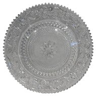 Indiana Glass Tiara Exclusives Sandwich Clear Torte Plate 15 IN