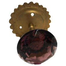 Purple Amethyst Glass Door Knob Pull Curtain Tie Back