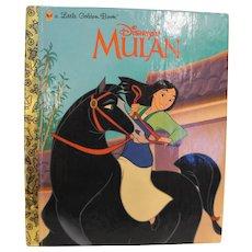 Mulan Little Golden Book 1998 First Edition Disney