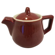 Hall Maroon Individual Restaurant Ware Teapot Small 1 Cup