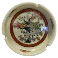 Satsuma Arnart Japan Ashtray Peacock Motif