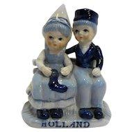Delft Blue Dutch Boy Girl Figurine Holland Souvenir