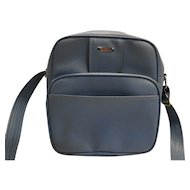Samsonite Montbello II Blue Vinyl Shoulder Bag Carry On