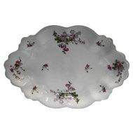 MZ Austria Pink Floral Scalloped Platter 1891-1917 Pink Roses