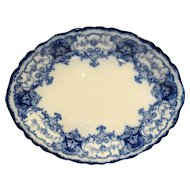 John Maddock Sons Flow Blue Dainty Oval Platter 12 IN 1890s