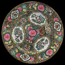 Rose Medallion Variant Japanese Porcelain Ware Decorated Hong Kong Plate Stewart Dry Goods Co 10 IN