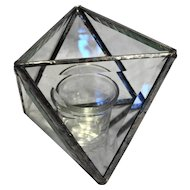 Beveled Glass Mirror Base Octahedron Open Box Terrarium Candle Holder Triangle Panels