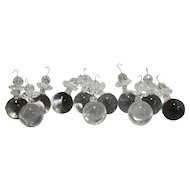 Clear Hand Made Glass Ball Sphere Prism Dangles Set of 24 Loose