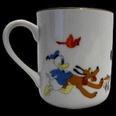 Disney Characters Porcelain Mug Made in Japan Mickey Goofy Donald Dumbo