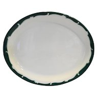 Syracuse Wintergreen 11 IN Platter Green Scroll Rim Restaurant Ware
