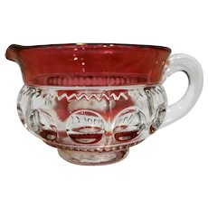 Tiffin King's Crown Ruby Flashed Top Bottom Low Creamer