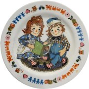 Raggedy Ann and Andy Oneida Deluxe Melmac Childs Plate