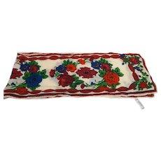 Liz Claiborne Bright Floral Jewel Tones Silk Scarf Long Made in Japan