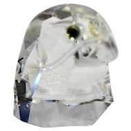 Swarovski Crystal Falcon Eagle Head Figurine 2 IN